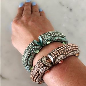 Jewelry - Enamel and crystals bracelets Never worm Gorgeous